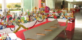 The Tombola Stall at the Xmas Fair