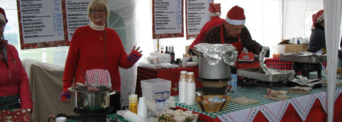 Freesia Christmas Fair Hot Food