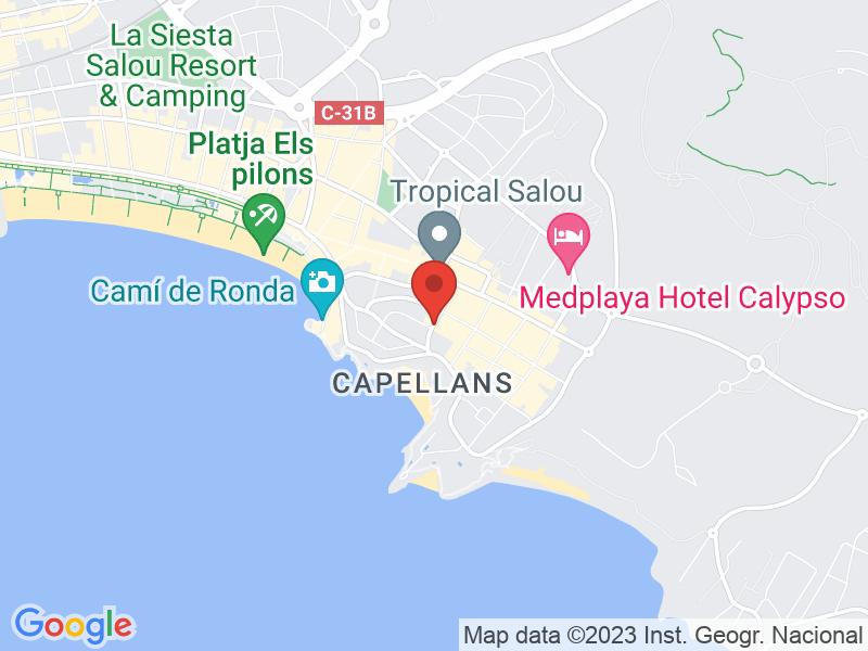 Map of Hotel Playa Margarita